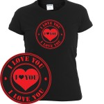 I love you stamp | T-shirt donna