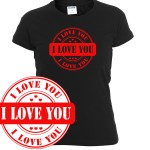 I love you stamp 2| T-shirt donna