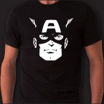 Captain America T-shirt | Fronte/Retro