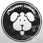 Dog name 03 - Sticker da 10x10 cm