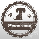 Dog name 05 - Sticker 10x10 cm