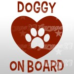 Dog on board 03 - Sticker da 10x13,4 cm