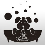 Pet toilette - Sticker da 10x11 cm