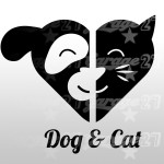 Dog & Cat - Sticker da 10x9 cm