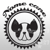 Dog name - Sticker da 10x10  cm