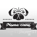 Dog name 02 - Sticker da 16,5x10 cm