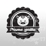 Cat name  - Sticker da 10,5x10 cm