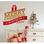 Merry Christmas - Adesivo murale 50x60 cm