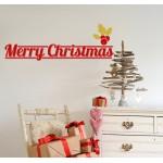 Merry Christmas - Adesivo murale 65x23 cm