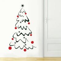Albero di Natale - Adesivo murale 55x93 cm