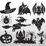 Halloween Set 1- 50X50 cm Stickers decorativi