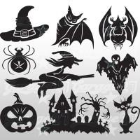 Halloween Set 1- 50X50 cm Stickers decorativi
