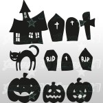 Halloween Set 3 - 50X50 cm Stickers decorativi
