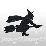 Strega di halloween  15x11| Sticker decorativo