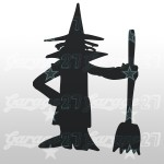 Strega di halloween  11x15| Sticker decorativo