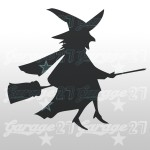 Strega di halloween  15x13| Sticker decorativo