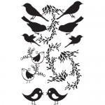Uccellini e rami- Plancia 30x50 cm
