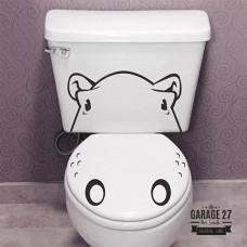 Ippopotamo - Adesivi per wc