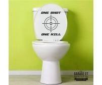 One shot... - Adesivi per wc
