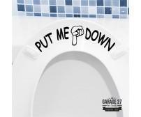 Put me down - Adesivi per wc