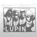 Lupin III  - Adesivo murale 80x60 cm