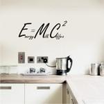 E=MC2 Adesivo murale -  30x11,5 cm