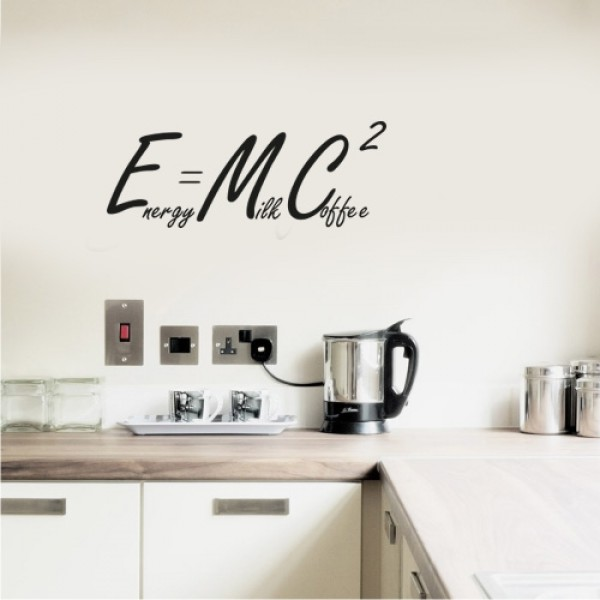 E mc2 adesivo murale 30x11 5 cm for Stickers cucina