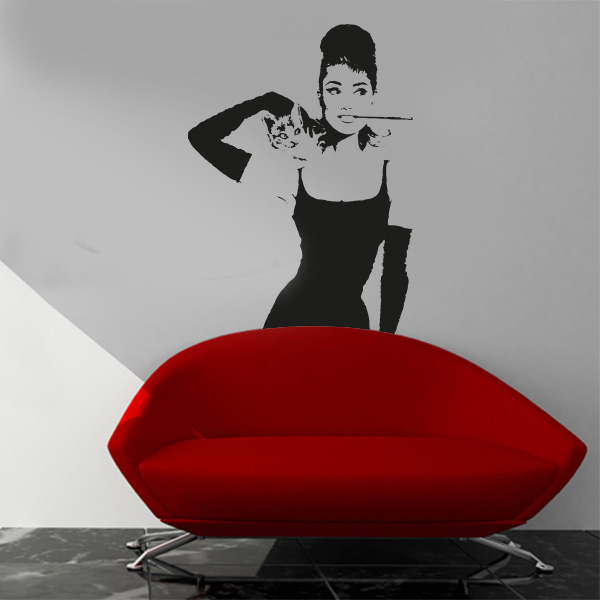 Adesivi Murali Audrey Hepburn.Audrey Hepburn 50x100 Cm