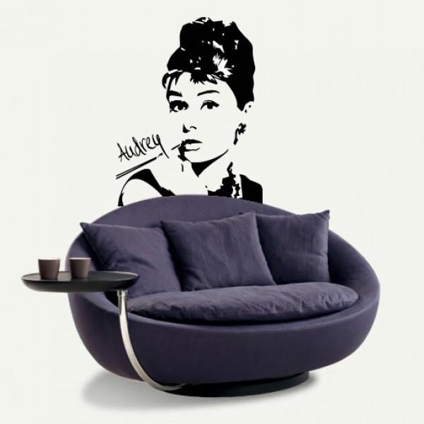 Adesivi Murali Audrey Hepburn.Audrey Hepburn 58x75cm