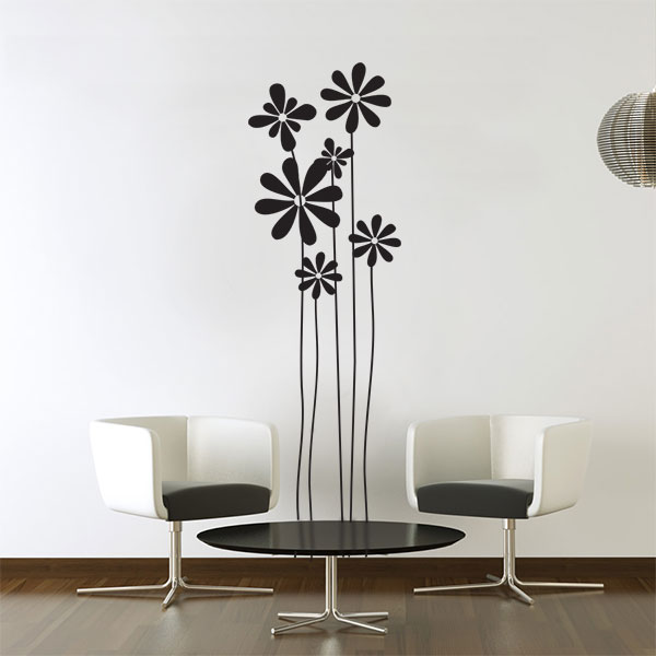 Margherite adesivi murali 55x180 cm for Specchi adesivi murali