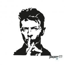 David Bowie | Adesivo murale 55x70 cm