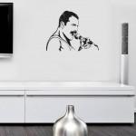 Freddie Mercury - adesivo murale 71x55 cm