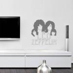 Led Zeppelin - Adesivo murale 60x60 cm
