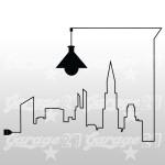 City silouette - Adesivi placche
