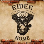 Rider home murale - 68x107 cm