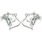 Puma coppia - 50x24 cm