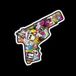 Gun - Sticker bomb da 10 cm