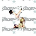 Pin-up sticker 7  - da 10 cm