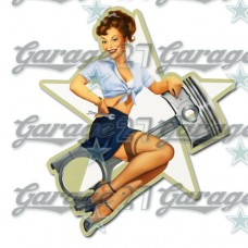 Pin-up sticker 10 - da 10 cm
