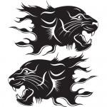 Tigre coppia - 32x35 cm