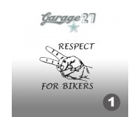 Respect for bikers | Sticker sagomato 10 cm
