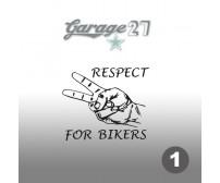 Respect for bikers | Sticker sagomato 10 cm