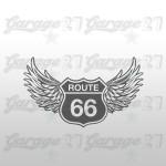 Route 66 Ali  | Sticker sagomato da 15 cm