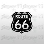 Route 66 | Sticker sagomato da 10 cm