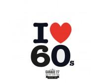 I love 60s - Sticker da 10 cm
