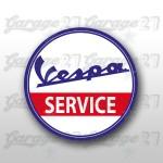 Vespa Service Blue- Adesivo sagomato da 10 cm