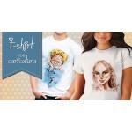 T-shirt con caricatura per lei e lui