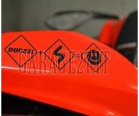 DUCATI Stickers smiley  | Sticker sagomato da 21 cm
