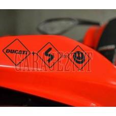 DUCATI Stickers smiley    Sticker sagomato da 21 cm