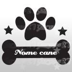 Dog name 04 - Sticker da 12x10 cm